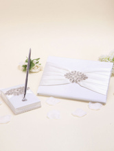 Beaded Wedding Guest Book and Pen