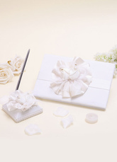 Wedding Guest Book and Pen with Flower