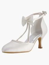 Zapatos de punter Peep Toe de tacón de stiletto de seda sintética de encajeelegantes Fiesta de bodas VVS8g1L