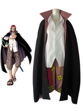 Anime Costumes AF-S2-509349 One Piece Shanks Halloween Cosplay Costume Red Hair Shanks Cosplay