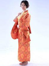 Anime Costumes AF-S2-509515 Halloween Kimono Dress Orange Japanese Traditional Yukata Cotume Cosplay