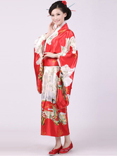 Anime Costumes AF-S2-509549 Red Printing Japanese Kimono Costumes