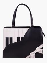 Lolitashow Black Piano Pattern PU Leather Lolita Bag