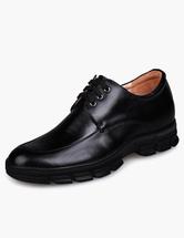 Chaussures ascenseur pour homme 2021 Chaussures homme de cuir noires à talon compensé