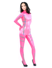 Anime Costumes AF-S2-512765 Pink Long Sleeves Latex Catsuits