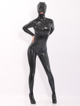 Anime Costumes AF-S2-512757 Black Latex Catsuits With Hood
