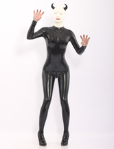 Anime Costumes AF-S2-512747 Black Latex Catsuit with Devil Pattern Hood