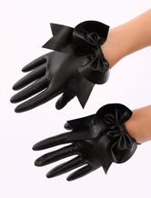 Anime Costumes AF-S2-512729 Black Big Bow Latex Gloves
