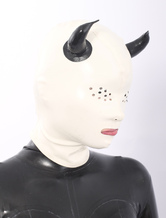 Anime Costumes AF-S2-512707 White Devil Pattern Latex Hood for Halloween