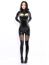 Anime Costumes AF-S2-512761 Black Long Sleeves Latex Catsuits