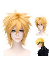 Наруто Узумаки косплей парик Свето – золотистый цвет Хэллоуин