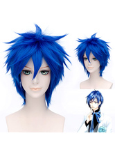 Vocaloid Kaito Cosplay Wig Blue Straight Cosplay Wig Halloween