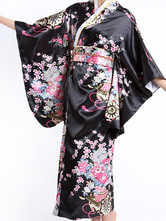 Anime Costumes AF-S2-513713 Black Traditional Women's Kimono Costumes