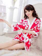 Anime Costumes AF-S2-516185 Halloween Geisha Costume Red Indoor Synthetic Fabulous Sexy Kimono