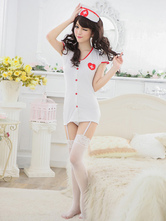 Anime Costumes AF-S2-516153 Halloween White Sexy Nurse Costume