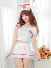 Anime Costumes AF-S2-516143 Halloween Sweet Synthetic Enticing Nurse Costume