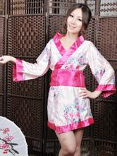Anime Costumes AF-S2-516191 Halloween Geisha Costume Pink Indoor Synthetic Fashion Sexy Kimono