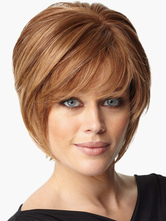 Anime Costumes AF-S2-519997 Contemporary Blonde 8 inches Pixies and Boycuts Human Hair Wigs
