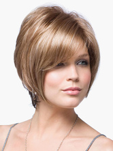 Anime Costumes AF-S2-519999 Urban Flaxen 8 inches Pixies and Boycuts Human Hair Wigs