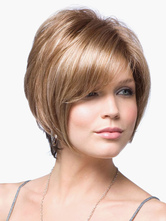 Anime Costumes AF-S2-520011 Chic Blonde 8 inches Pixies and Boycuts Human Hair Wigs