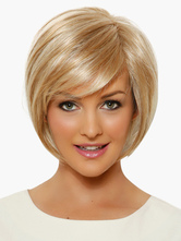 Anime Costumes AF-S2-519993 Gold 8 inches Pixies and Boycuts Human Hair Wigs