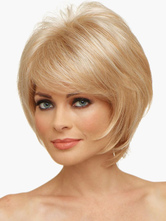 Anime Costumes AF-S2-520019 Gold 8 inches Pixies and Boycuts Human Hair Wigs