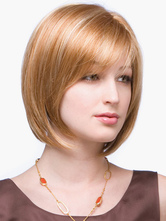 Anime Costumes AF-S2-520029 Chic Flaxen 10 inches Pixies and Boycuts Human Hair Wigs