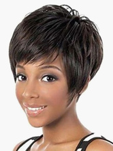 Anime Costumes AF-S2-520665 Brown Heat-resistant Fiber Pixies and Boycuts Beautiful Short Wig