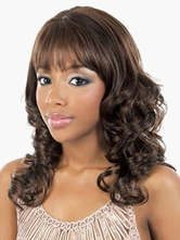 Anime Costumes AF-S2-520675 Fashion Brown Curly Chic Heat-resistant Fiber Medium Wig