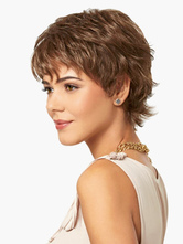 Anime Costumes AF-S2-520703 Blonde Heat-resistant Fiber Pixies and Boycuts Attractive Short Wig