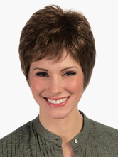 Anime Costumes AF-S2-520705 Brown Heat-resistant Fiber Pixies and Boycuts Fashion Short Wig