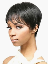Anime Costumes AF-S2-520669 Fashion Black Pixies and Boycuts Heat-resistant Fiber Short Wig