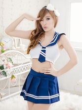Anime Costumes AF-S2-524707 Halloween Blue Women's Sexy School Girl Costume