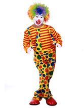 Anime Costumes AF-S2-526841 Halloween Clown Costume Holiday Multi Color Men's Circus Costume Cosplay