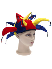 Anime Costumes AF-S2-527843 Multi Color Stylish Halloween Clown Hat