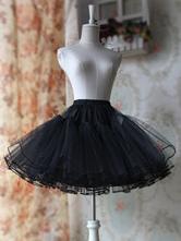 Black White A-line Organza Lolita Petticoat