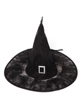 Anime Costumes AF-S2-529113 Black Synthetic Halloween Witch Hat