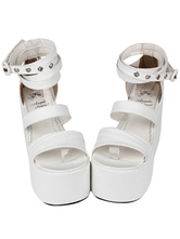 Fashion Leather White Lolita Sandals