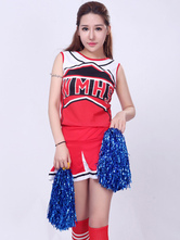 Anime Costumes AF-S2-531087 Halloween Red Synthetic Enticing Cheerleader Costume
