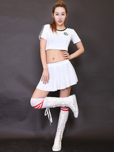 Anime Costumes AF-S2-531107 Halloween White Synthetic Sexy Cheerleader Costume