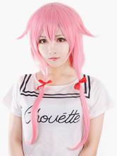 Heat-resistant Fiber The Future Diary Gasai Yuno Cosplay Wig Halloween costume