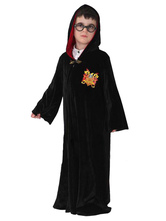 Anime Costumes AF-S2-534953 Halloween Harry Potter Costume for Boy Black Gown Costume Cosplay