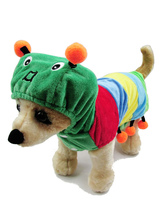 Anime Costumes AF-S2-537003 Green Caterpillar One Piece Costume for Pets