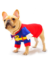 Anime Costumes AF-S2-536985 Red Superman One Piece Costume for Pets