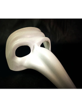 Anime Costumes AF-S2-536887 Halloween White The Plague Doctor Mask Costume Accessories