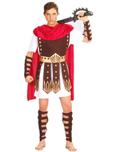 Anime Costumes AF-S2-536959 Halloween Roman Gladiator Costumes Game of Throne Brown Men's Costume Cosplay Set