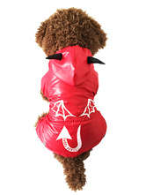 Anime Costumes AF-S2-536989 Red Water-Proof One Piece Pets Rain Coat