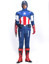 Anime Costumes AF-S2-538631 Captain America Steven Rogers Cosplay  Costume  Marvel's The Avengers  Halloween Cosplay Costume