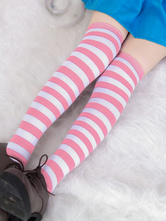 Anime Costumes AF-S2-540783 Halloween Alice Striped Japanese Students Stockings