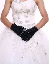 Chic Wrist Length Fingertips Synthetic Gloves